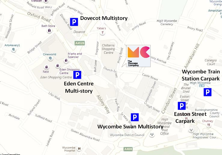 High Wycombe Parking Map